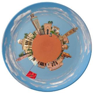 marrakech little planet morocco travel tourism lan plate