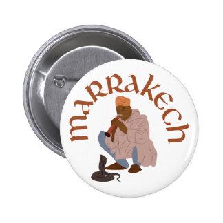 Marrakech Snake Charmer 6 Cm Round Badge