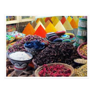 marrakech spices postcard