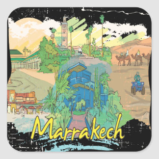 Marrakech Square Sticker