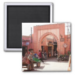 marrakesh medina door refrigerator magnets