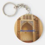 Marrakesh, Morocco Basic Round Button Key Ring