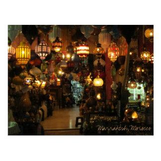Marrakesh Morocco Lamp Shop Postcard