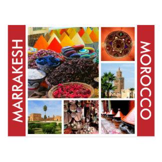 marrakesh morocco postcard