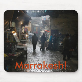 Marrakesh souk in Morocco Mouse Pads