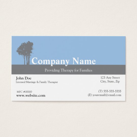 Marriage and Family Therapist Business Card