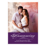 Marriage Announcement & Reception | Dark Purple