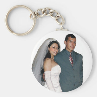 marriage basic round button key ring