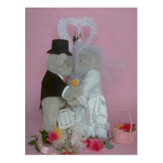 Marriage bears postcard