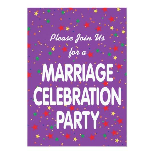 Marriage Celebration Party Invitation