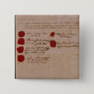 Marriage certificate of Wolfgang,Mozart and Weber 15 Cm Square Badge