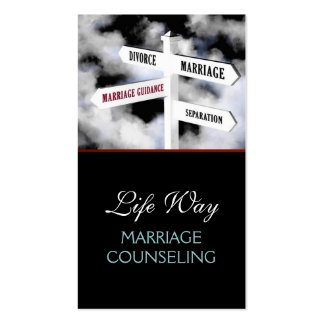 Marriage Counseling Life Coach Therapy Therapist, Business Card
