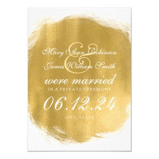 Marriage / Elopement Gold Paint Look 11 Cm X 16 Cm Invitation Card