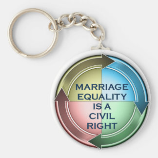 Marriage Equality Basic Round Button Key Ring