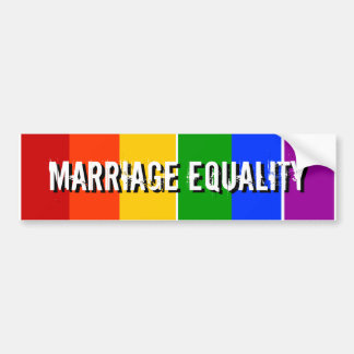 MARRIAGE EQUALITY CAR BUMPER STICKER
