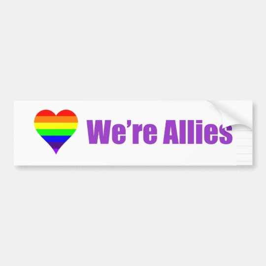 "Marriage Equality bumper sticker ""We're Allies"""