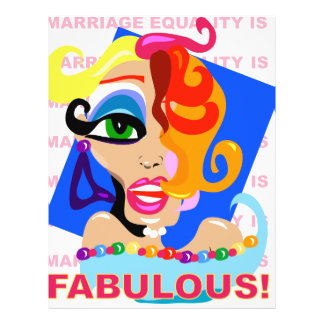 Marriage Equality Is Fabulous 21.5 Cm X 28 Cm Flyer