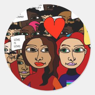 Marriage Equality : Joni & Paula @ The Rally Round Sticker