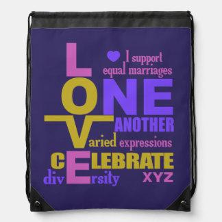 Marriage Equality / One Love custom bag