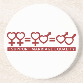 Marriage Equality / One Love custom coaster