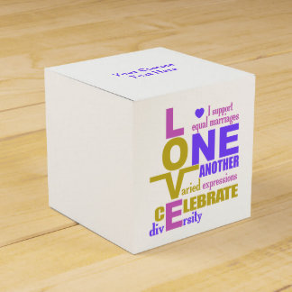 Marriage Equality / One Love custom favor boxes