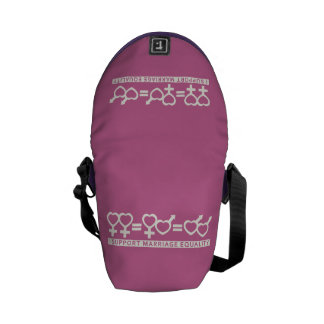 Marriage Equality / One Love custom messenger bag