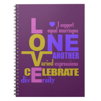 Marriage Equality / One Love custom notebook