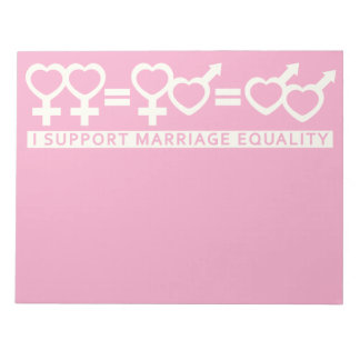 Marriage Equality / One Love custom notepad