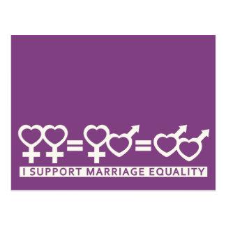 Marriage Equality / One Love custom postcard