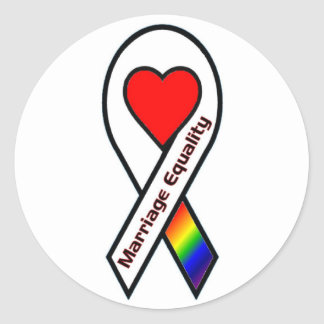 Marriage Equality Round Sticker