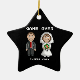 Marriage - Game Over Ceramic Star Decoration