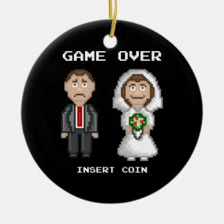 Marriage - Game Over Round Ceramic Decoration