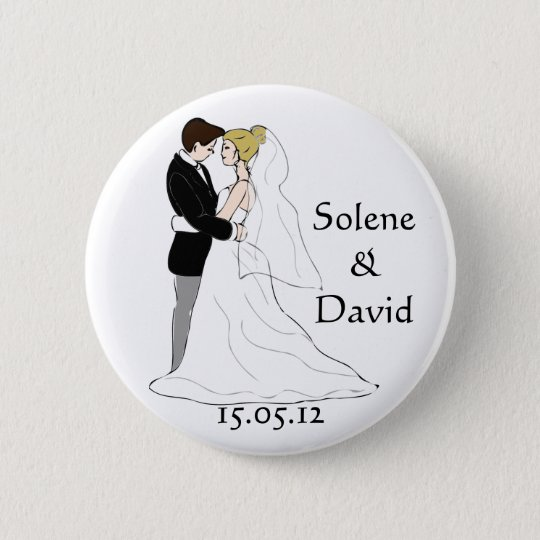 Marriage gift D-day swipes in 6 Cm Round Badge