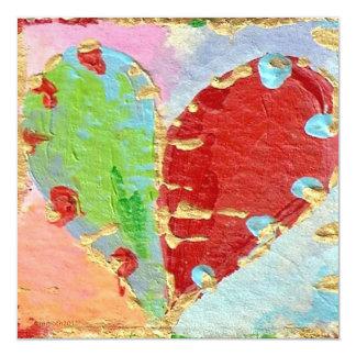 Marriage heart invitation