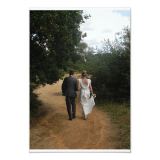 Marriage in the Forest 9 Cm X 13 Cm Invitation Card