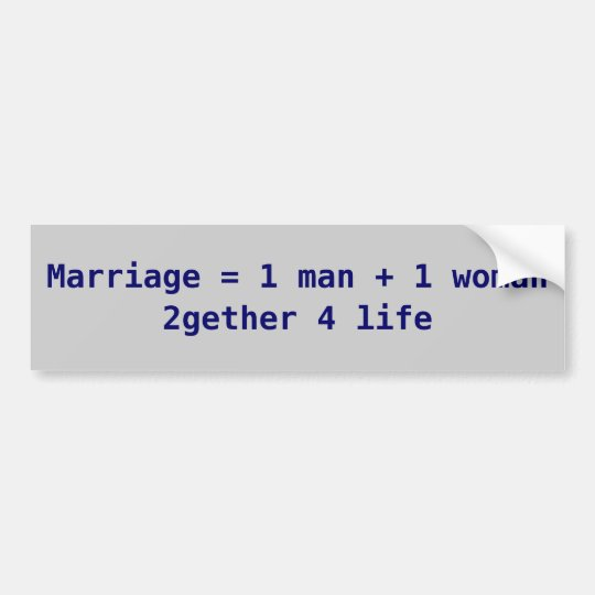 marriage is... bumper sticker