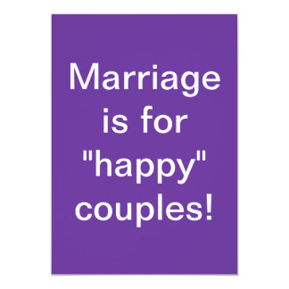 Marriage is for happy couples bumper sticker 13 cm x 18 cm invitation card