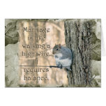 Marriage is Like a High Wire Act Squirrel