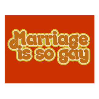 Marriage is so gay postcard