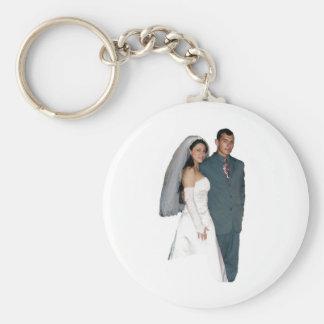 marriage basic round button key ring