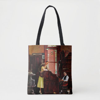 Marriage License by Norman Rockwell Tote Bag