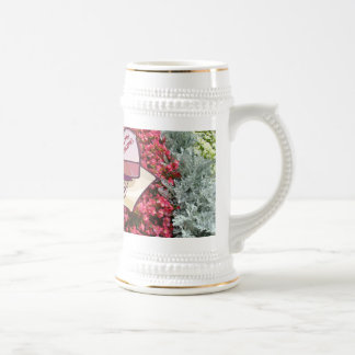 Marriage memories; Happy Wedding Beer Stein