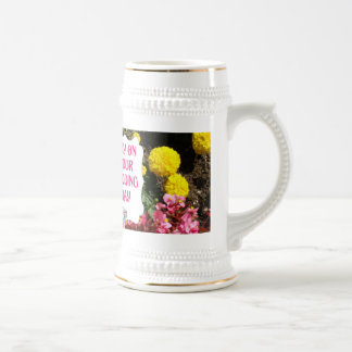 Marriage memories; Joy on your wedding day Beer Stein