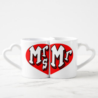 marriage,mrs and mr,matching couple mug