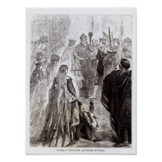 Marriage of Edward II  and Isabella of France Poster
