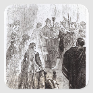 Marriage of Edward II  and Isabella of France Square Sticker