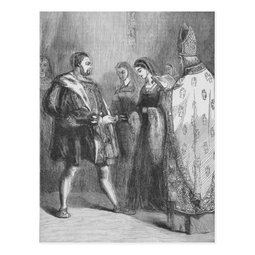 Marriage of Henry VIII and Catherine Parr Post Cards