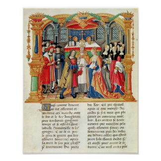 Marriage of Maria of Burgundy and Maximilian I Poster