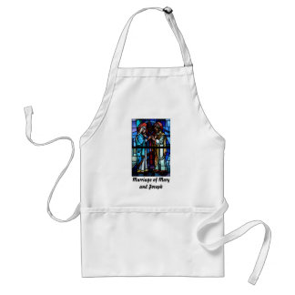 Marriage of Mary and Saint Joseph Stained Glass Adult Apron