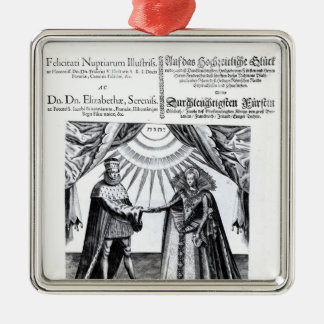 Marriage of Princess Elizabeth Christmas Ornament